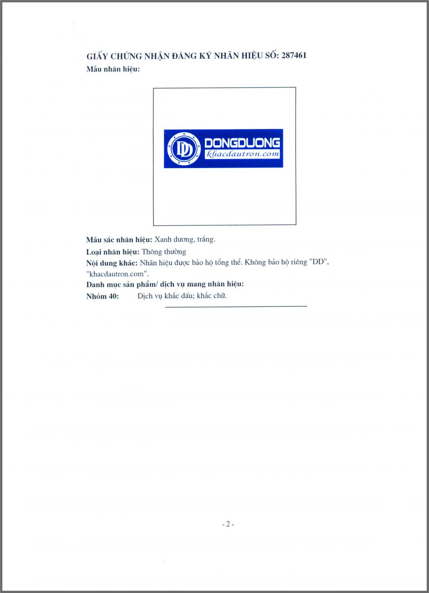 Giới thiệu về công ty Khắc Dấu Đông Dương