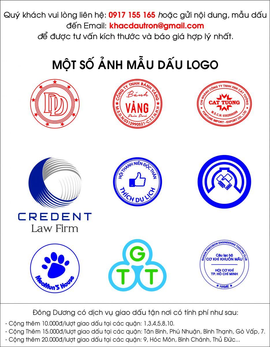 Bảng giá dịch vụ khắc dấu Logo